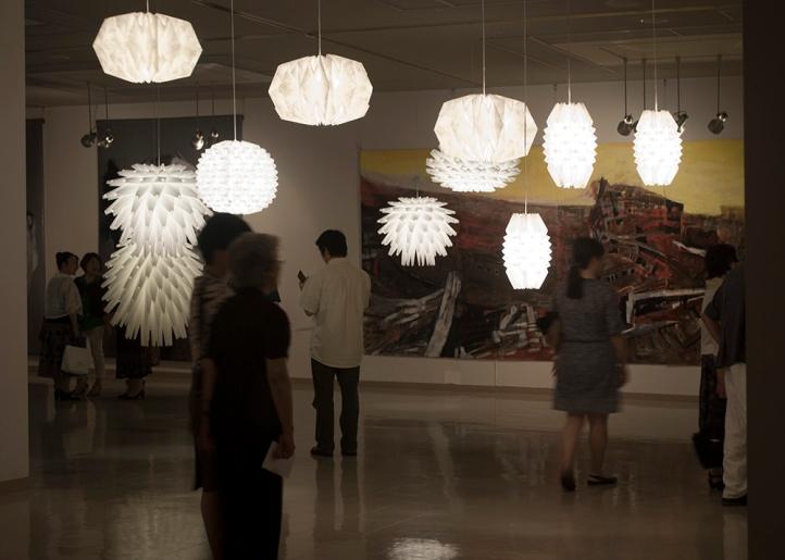 Folded Light Art at Toyota City, Aichi, Japan