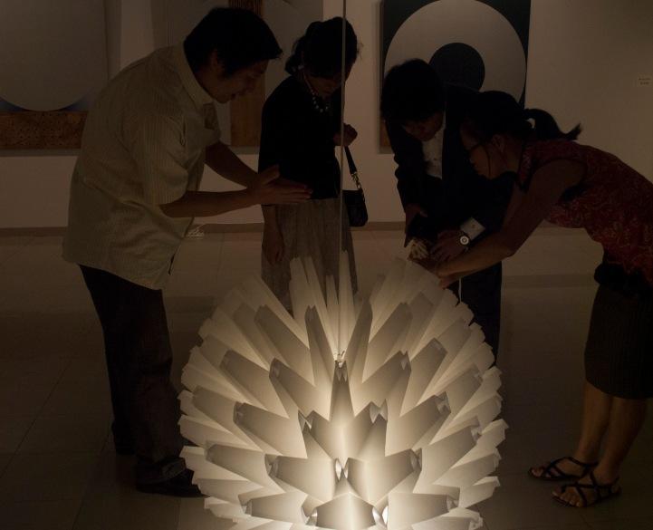 Folded Light Art at Toyota City