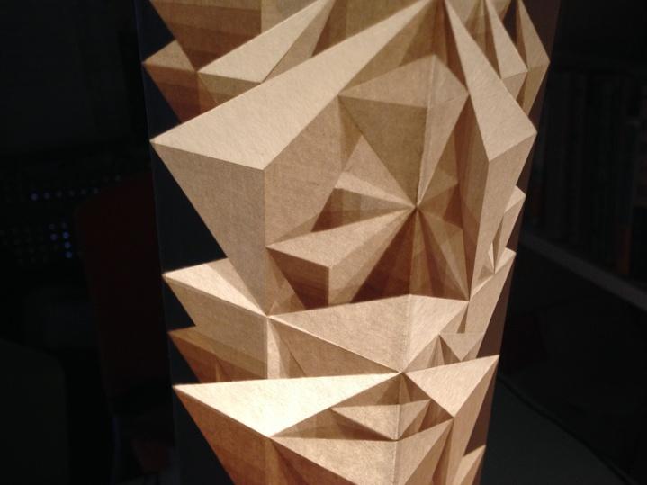 Detail of Professor Shibazaki's lighted art