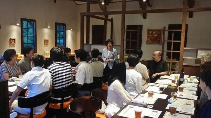 Akiko Toyoda spoke at the welcome reception