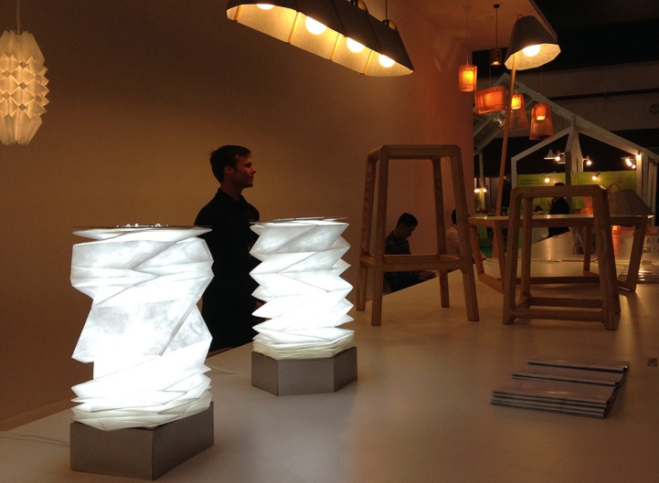 Folded Light Art at Asia Talents: 10 Eco Designers