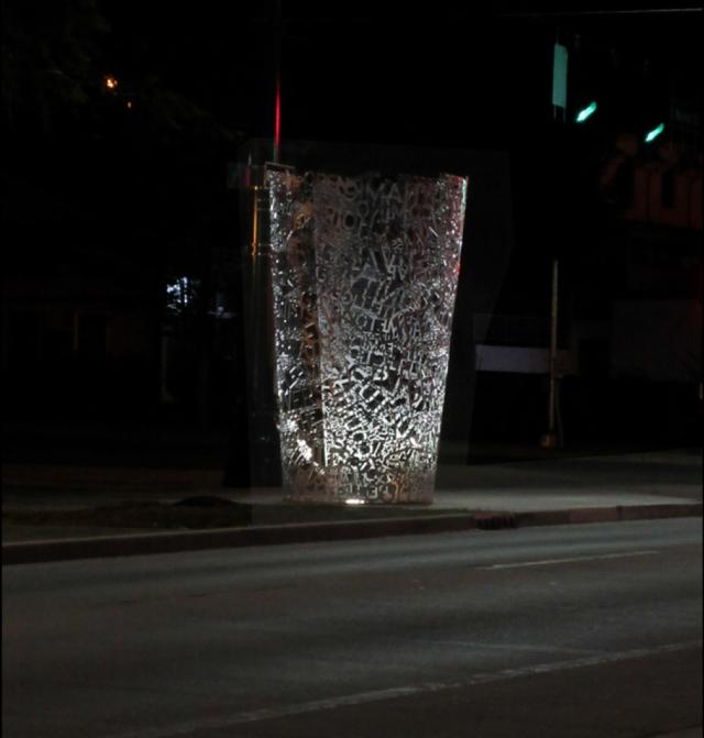 (C)olumn at night. Photo courtesy: Jon Racek