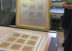 Silk screen printing using Nori