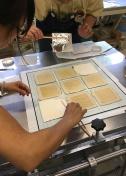 Transferring foil to the silk prints