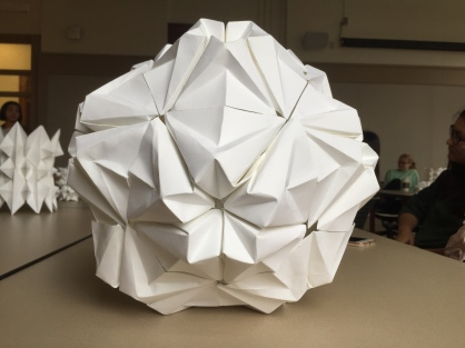 A dodecahedron construction. Student: Yuning Ding