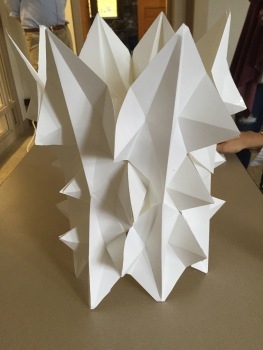 A structure constructed by translational and gliding symmetries. Student: Abigail Stawick