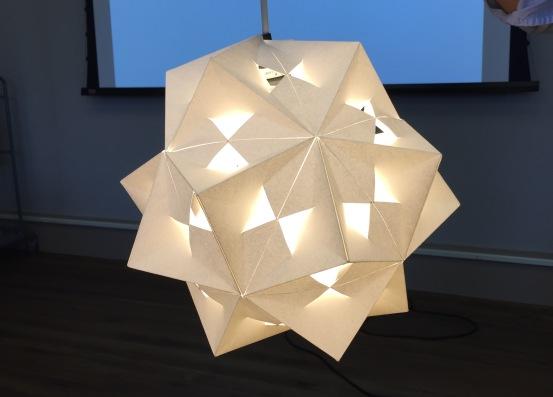 Folded Light. Student: Noelle Zeichner