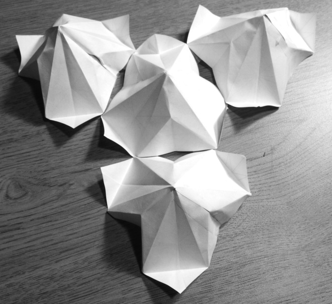 Four folded units. Student: Julia Gilstrap
