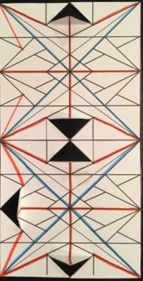 A crease pattern. Student: Noelle Zeichner