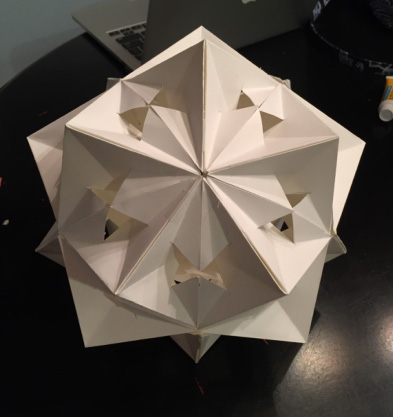 An icosahedron construction. Student: Noelle Zeichner