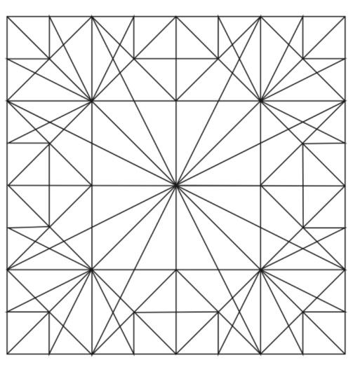 A line pattern design. Student: Julia Gilstrap