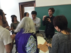 Professor Ricketts translatting for Professor Shibazaki.